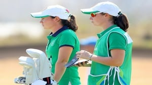 Golfer Leona Maguire, with her sister Lisa on her bag, finished a highly creditable 21st. Stephanie Meadow was 31st.