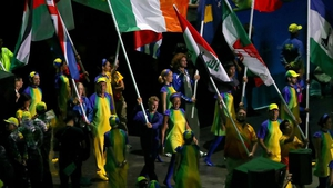 And in the blink of an eye it was all over, with Gary O'Donovan carrying the flag with pride during the closing ceremony.