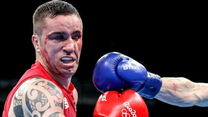 David Oliver Joyce proved no match for the elusive Azeri fighter Albert Selimov in their round-of-16 bout.