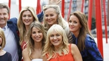 Dr Ciara (far right) with familiar faces from the RTÉ new season launch - Daniel O'Donnell, Claire Byrne (just seen), Fair City's Jenny Dixon, Vogue Williams, Dr Eva Orsmond & Miriam O'Callaghan