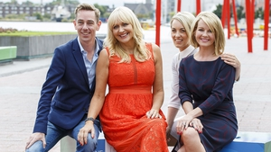 Ryan pictured with Miriam O'Callaghan, Kathryn Thomas and Claire Byrne at the RTÉ New Season Launch