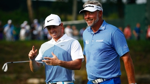 Rory McIlroy (L) with Darren Clarke