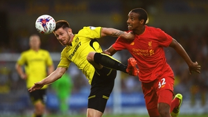 Matip, right, in action for his club Liverpool