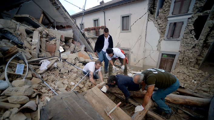 Dozens feared dead as earthquake hits Italy