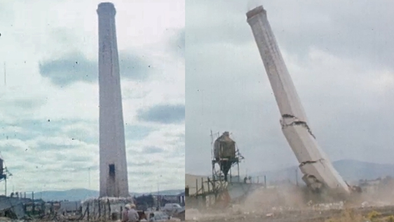 Bluebell Chimney Demolished (1981)