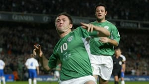 He broke Quinn's Irish record of 21 goals with a double against the Faroe Islands in 2004