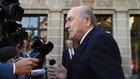 Former FIFA boss Blatter presents case to CAS