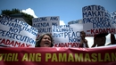 A protest against the extra-judicial killings