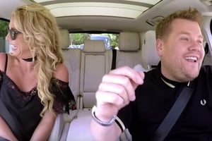 Britney Spears and James Corden belt out the hits together
