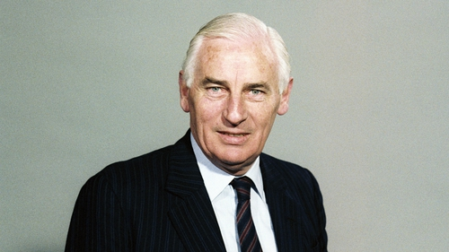 Peter Barry during his tenure as minister for foreign affairs in the 1980s (Pic: RTÉ Stills Library)