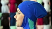 A model wears a burkini designed by Aheda Zanetti