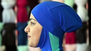 A model wears a burkini designed by Aheda Zanetti