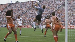 Hans van Breukelen (c) and Ruud Gullit (l) were team-mates when Holland won Euro '88
