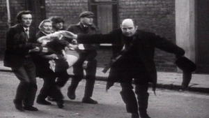 The iconic photo of Fr Edward Daly during Blood Sunday
