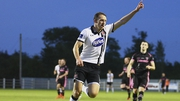David McMillan celebrates his first-half goal