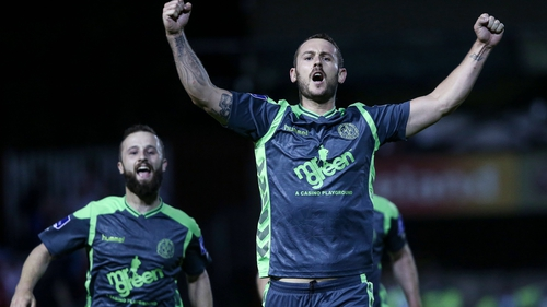 Kurtis Byrne celebrates his decisive goal