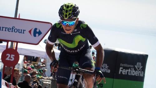 Nairo Quintana surged clear in the last kilometre of the gruelling Alto de la Camperona