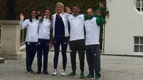 Around 26 athletes are at the Áras reception