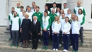President Higgins and his wife Sabina held a reception for Irish Olympians today