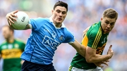 Diarmuid Connolly in action against Peter Crowley