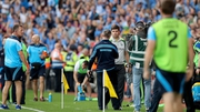 Jim Gavin and Éamonn Fitzmaurice exchange handshakes