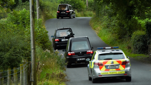 Hearses leaves the scene at Barconey