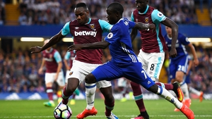 N'Golo Kante in action for Chelsea in their opening league match against West Ham