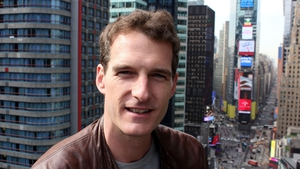 Dan Snow in Times Square