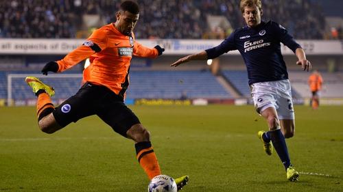 Leon Best in action for Brighton
