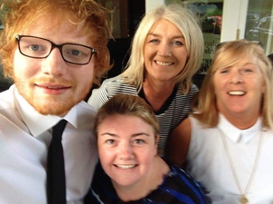 Ed Sheeran and guests at last Sunday's wedding (Pic: Beech Hill Country House Hotel)
