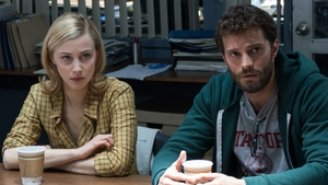 Sarah Gadon and Jamie Dornan in the neo-Hitchcockian The 9th Life Of Louis Drax.