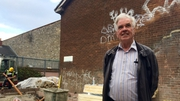 Peter McVerry at the St Agatha's Court redevelopment in Dublin, which will provide 11 units for the homeless
