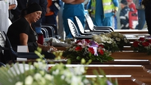 Relatives attend funeral mass for victims of the recent earthquake in Italy