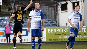 Patrick Barrett celebrates his goal and Dundalk's second