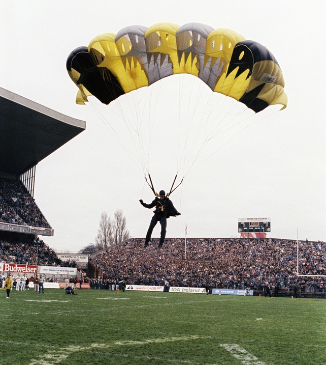 Ball Arrives by Parachute