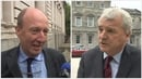 Shane Ross (left) said intensive discussions with Fine Gael were expected, while Finian McGrath said a decision needed to be made tomorrow
