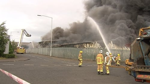 Smoke from the blaze was seen across the city