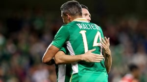A final embrace between Robbie Keane and Jon Walters