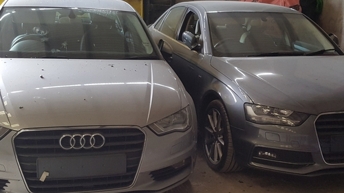 Gardaí believe the cars were being broken down for spare parts