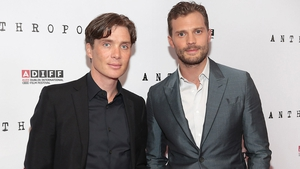 Cillian Murphy and Jamie Dornan on the red carpet for the Anthropoid Premiere