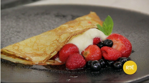 Dublin Cookery School's Crepes with Summer Fruits