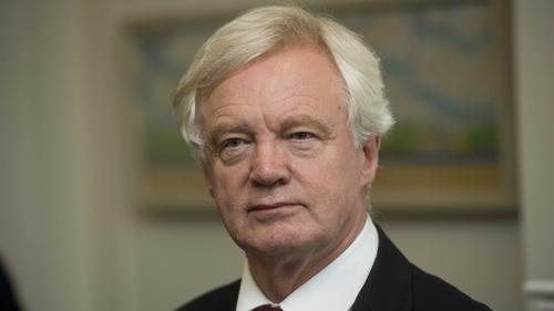 Brexit minister David Davis was speaking on a visit to Belfast