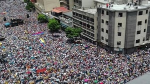The opposition Democratic Unity coalition estimated at least 1 million people took part in the protest