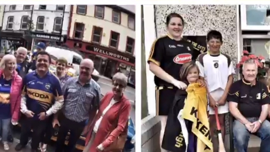 Kilkenny and Tipperary fans get ready for Sunday's final