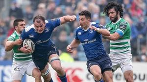 Leinster's Rhys Ruddock with Edoardo Gori of Treviso in last season's collision