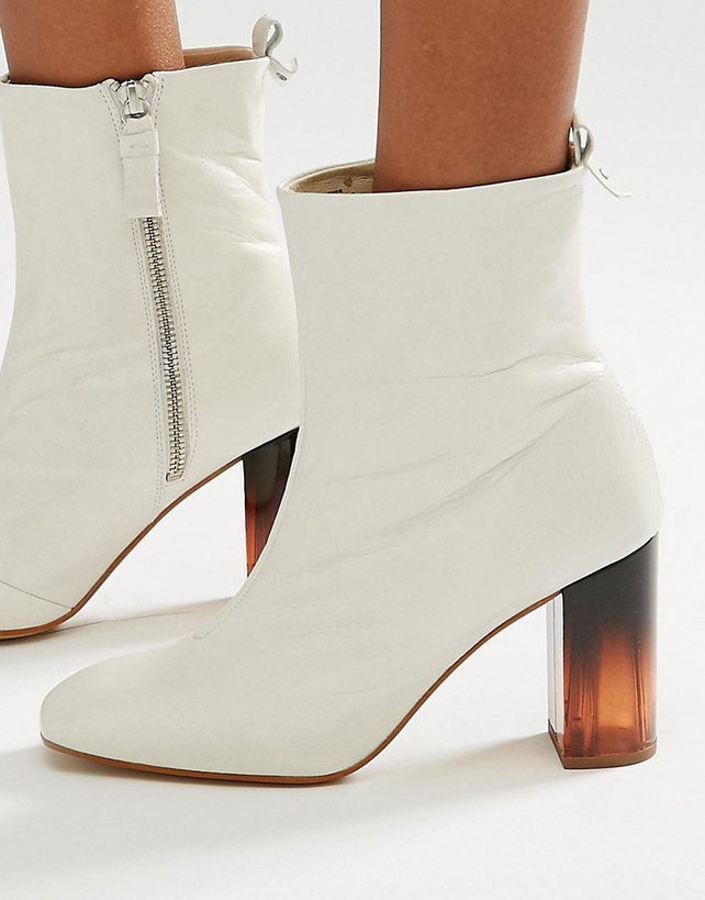 White Ankle Boots, ASOS