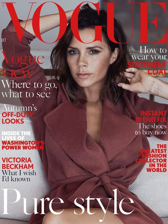 Victoria on the cover of Vogue UK