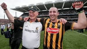 Eoin Larkin (R) with Kilkenny manager Brian Cody