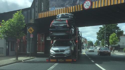 Iarnród Éireann said the increase in bridge strikes is 'worrying'
