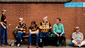 Kilkenny fans are well used to the pilgrimage. They got a breather before the drama began...